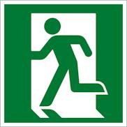 Эвакуационный знак безопасности Е01-01 выход здесь левосторонний