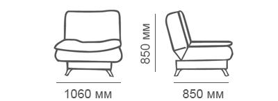 Габаритные размеры кресла Сити