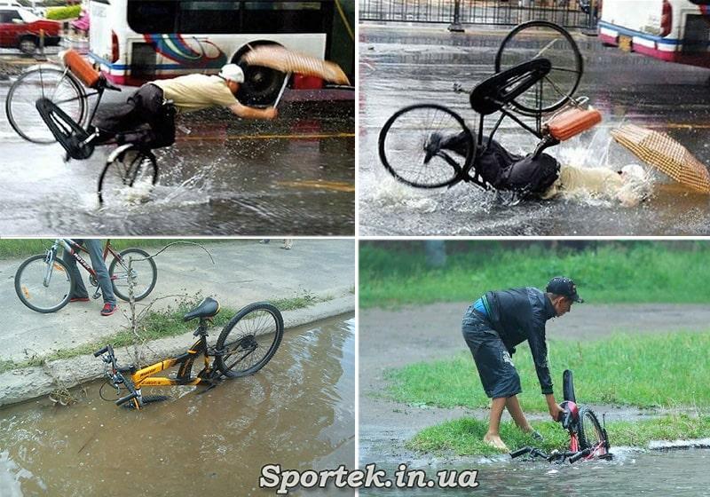 Особенности езды в дождь по краю дороги