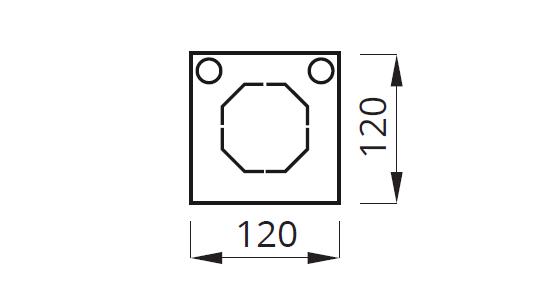 Размер электромонтажной коробки для светильников аварийного освещения