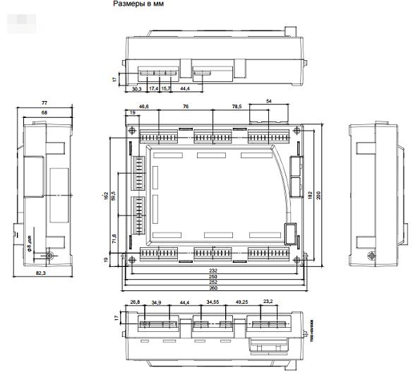 Размеры менеджер горения Siemens LMV52.440B1