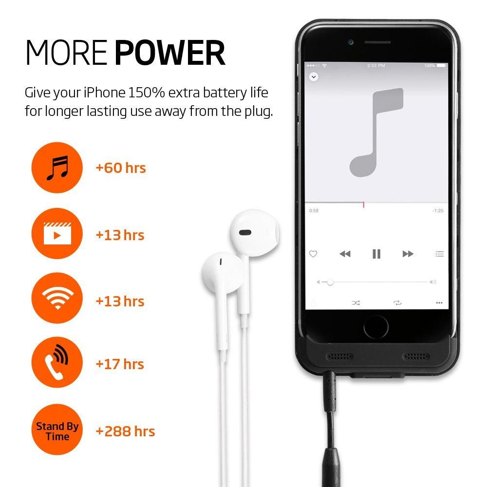 Противоударный чехол-аккумулятор Spigen Case Battery Case Volt Pack Black для iPhone 6 / 6S.