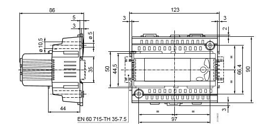 Размеры универсального контроллера Siemens RLU220