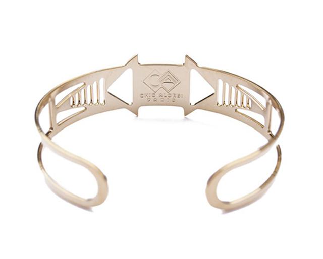 позолоченный браслет-манжет  Louxor rose от Chic Alors-Paris