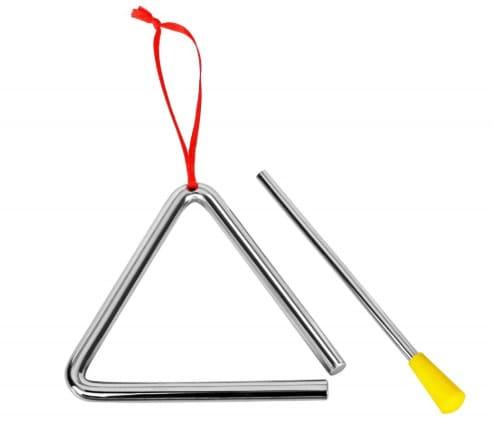 Стальной музыкальный треугольник с ударной палочкой