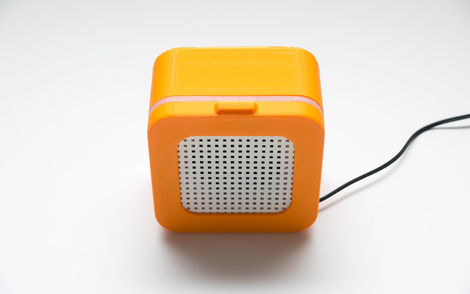 Собранный 3D печатный корпус для DIY динамика