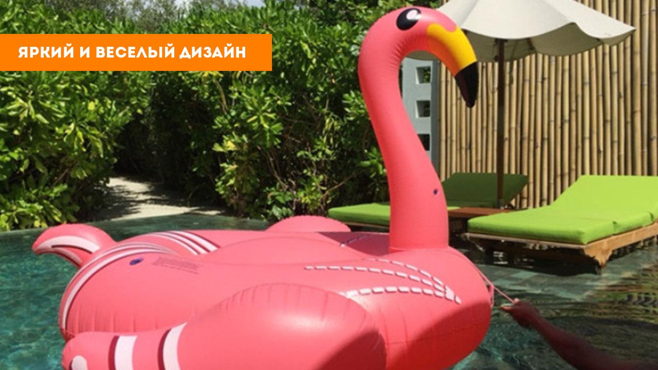 """Надувной матрас """"Розовый фламинго"""""""