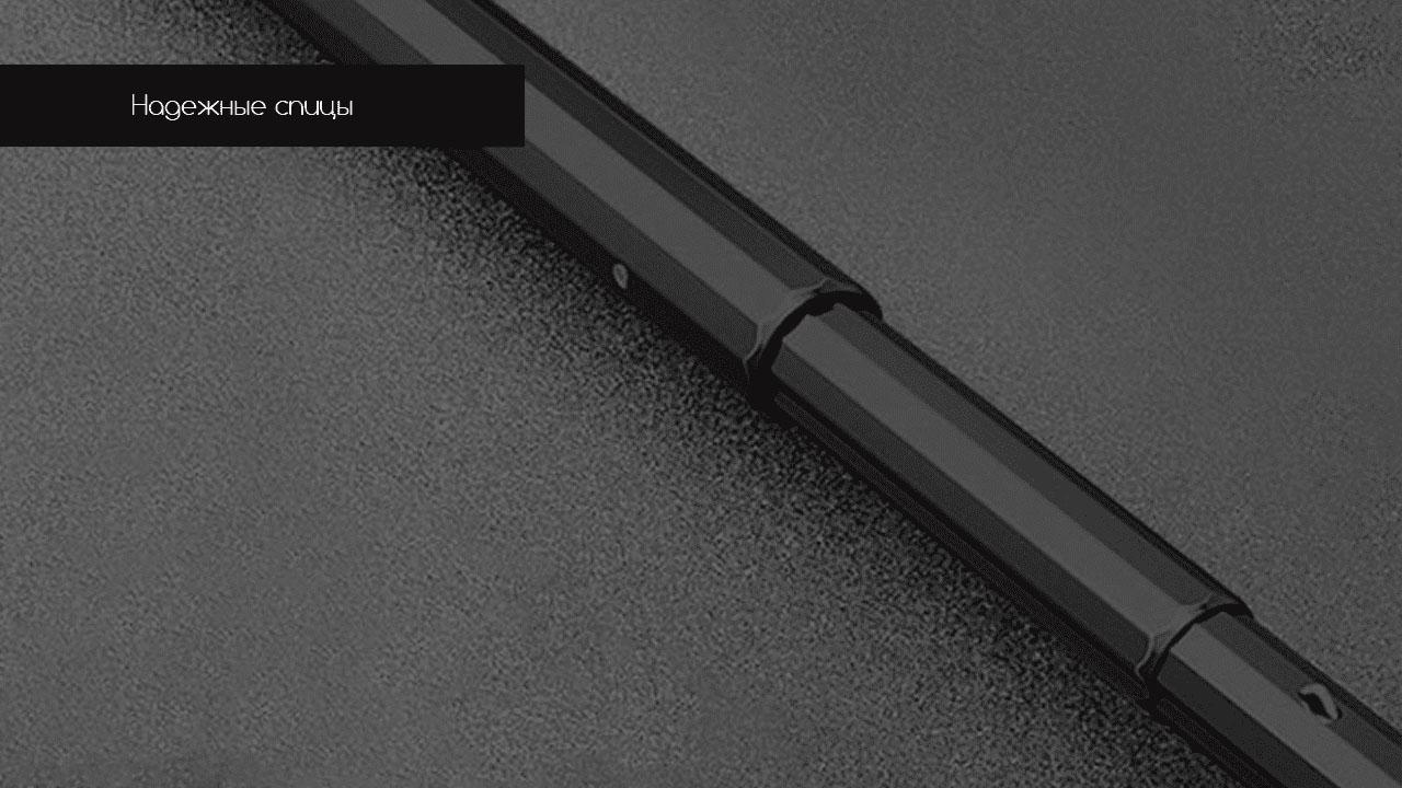 Представительский складной зонт черный | ZC Apolo Premium