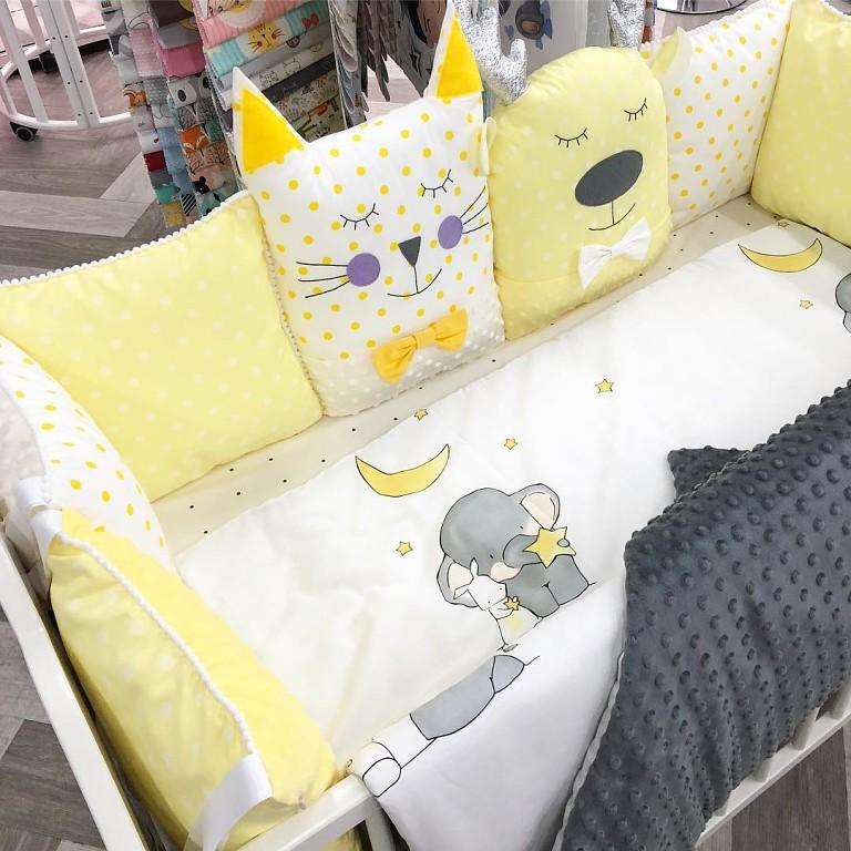 Комплект в детскую кроватку на заказ