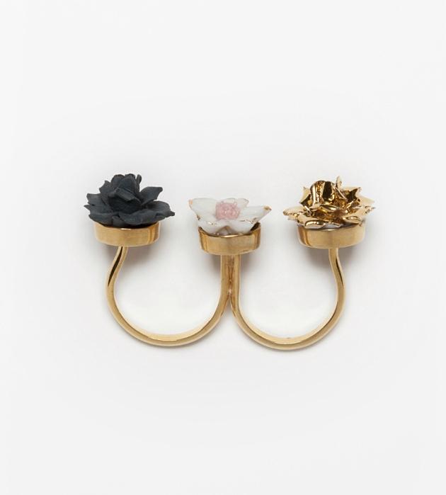 двойное кольцо от Andres Gallardo