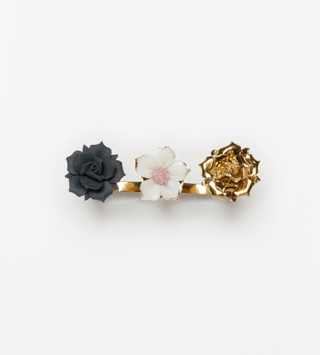 кольцо на 2 пальца Trio Flower от Andres Gallardo
