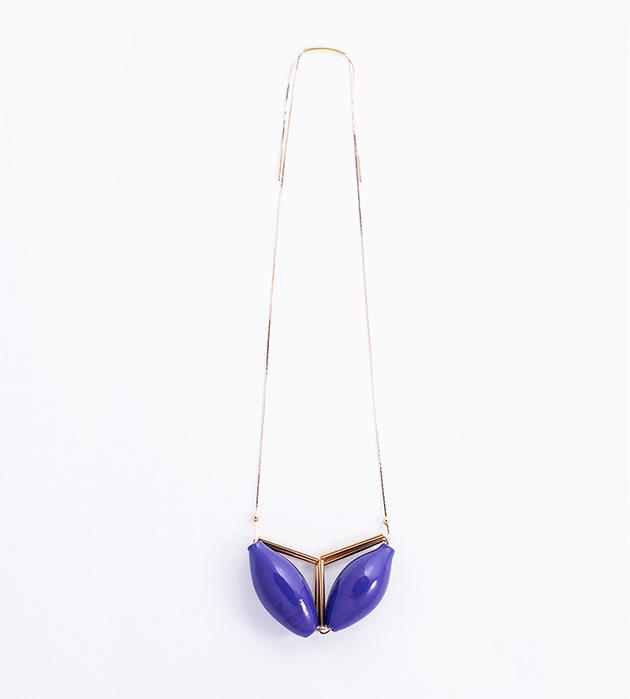 купите подвеска с двумя синими бусинами из муранского стекла от Pili Collado