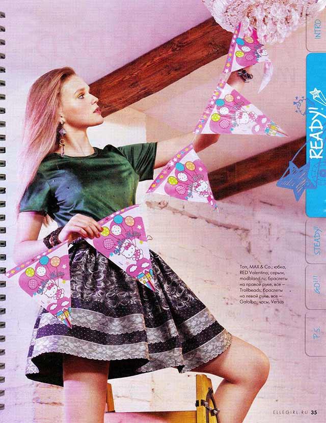 Стильные серьги с кристаллами от испанского бренда Mava Haze на страницах Elle Girl