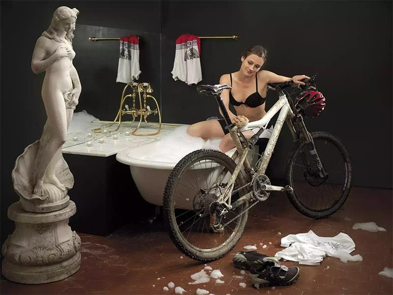 Мытье велосипеда перед постановкой на хранение