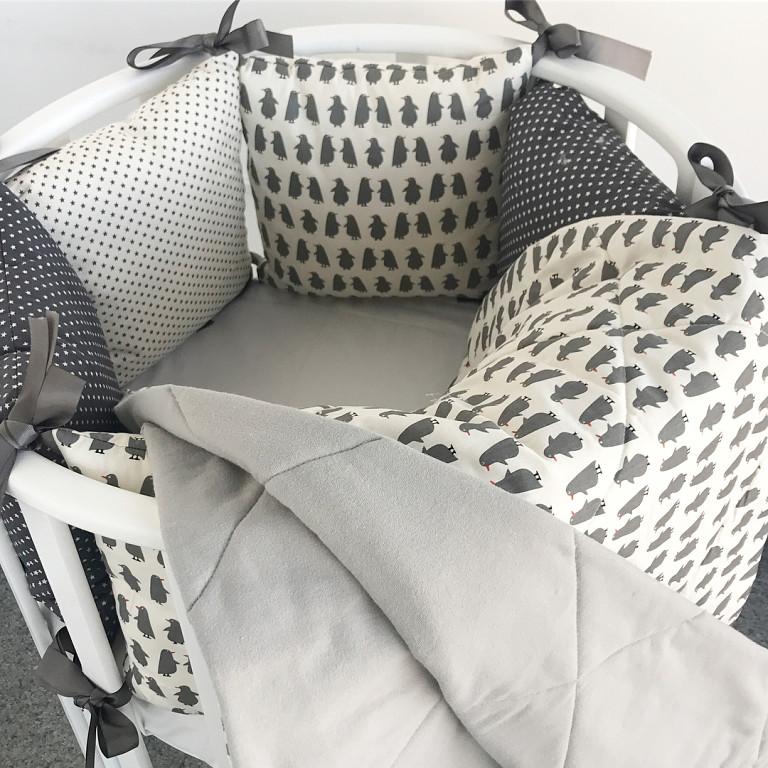 Комплект постельного белья в круглую детскую кроватку