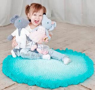 Детский коврик из Пуффи Омбре