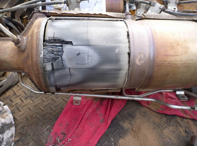 Сажевый фильтр демонтаж