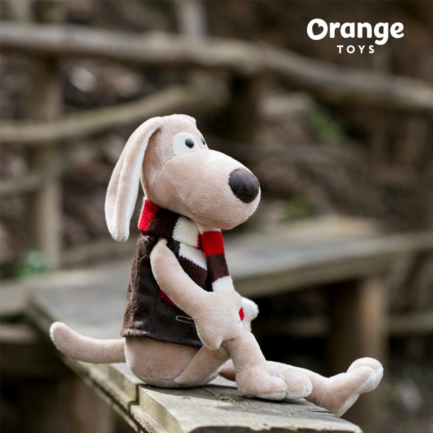Пес Бруно в полосатом шарфе, Orange Toys