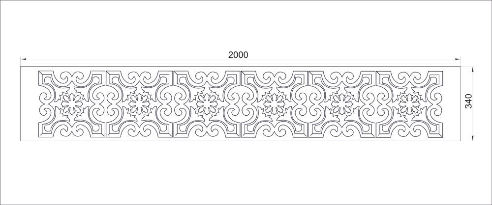 Орнамент из пенопласта чертёж