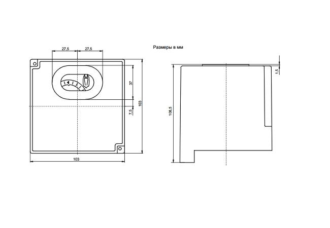 Размеры автомата горения Siemens LOK16.140A27