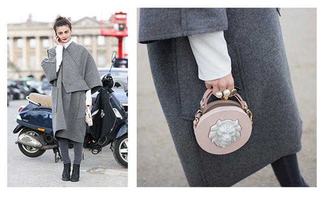 Наталья Алавердян - директор отдела моды в Harper's Bazaar и сумочка Lion Round Bag ANDRES GALLARDO