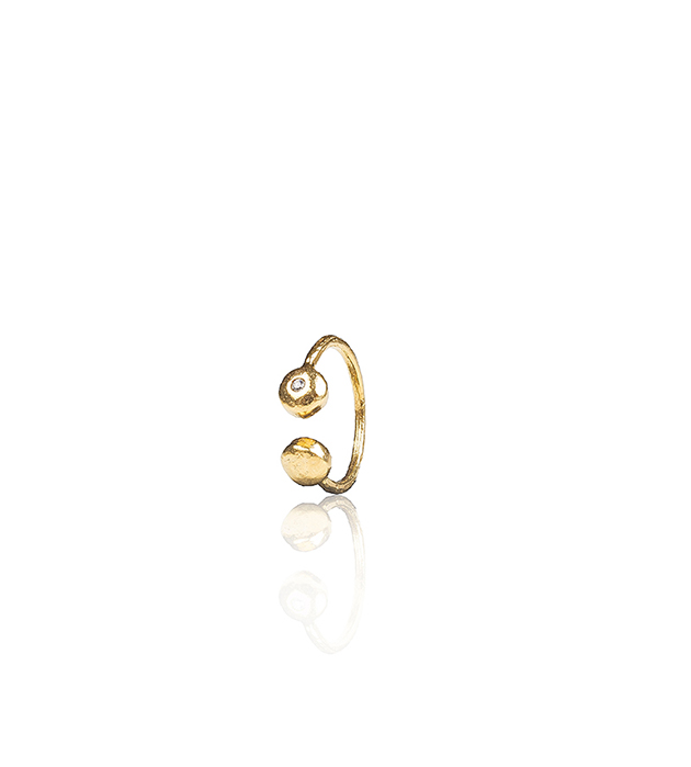 кольцо с белым цирконом от Apodemia