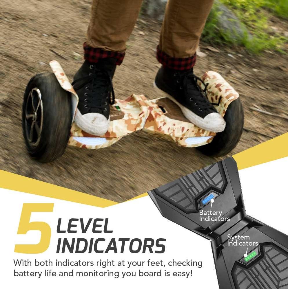 гироскутер 10 swagtron t6 off road hoverboard черный