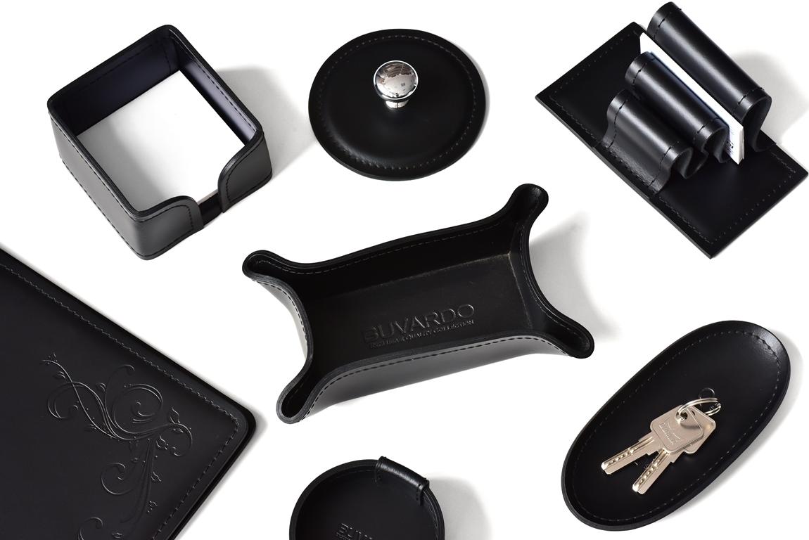 настольные кожаные аксессуары черные