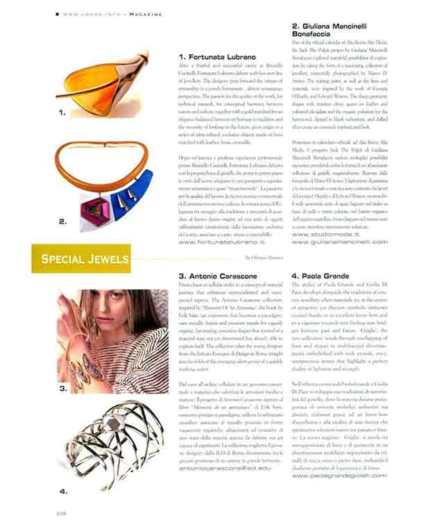 украшения Giuliana Mancinelli Bonafaccia в Collezioni Accessori Special Jewels