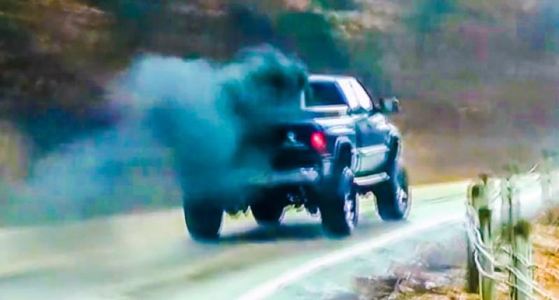 Густой черный дым в дизельном автомобиле