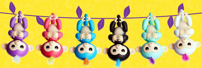 Интерактивные обезьянки Fingerlings Monkey