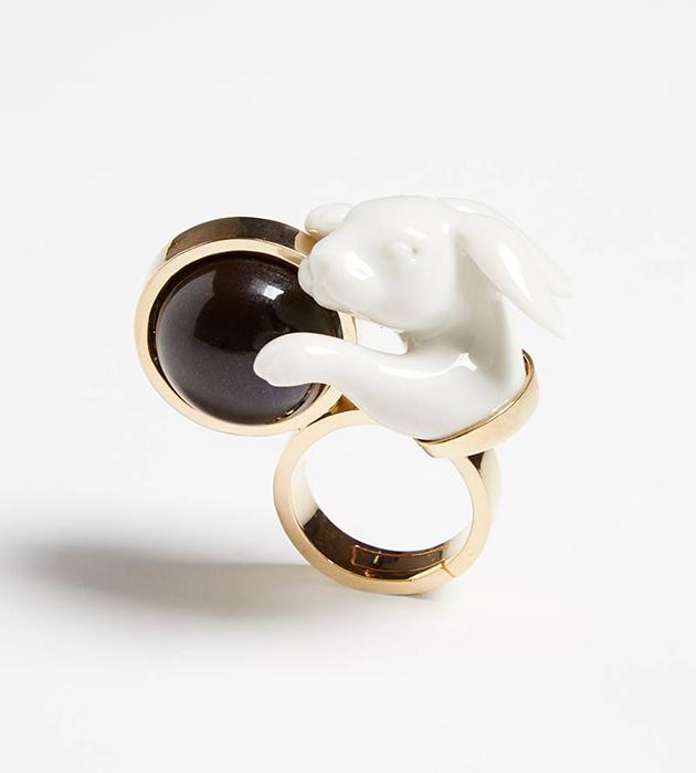 кольцо ручной работы от испанского бренда ANDRES GALLARDO - Rabbit Balloon ring