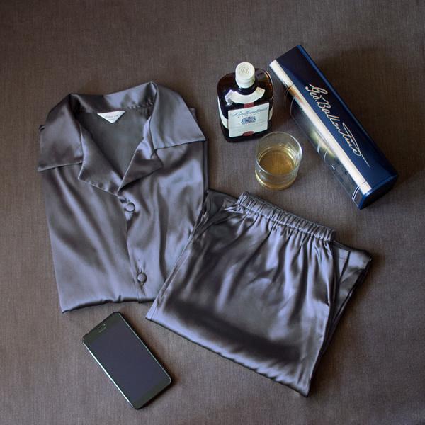 пижама мужская шелковая купить, виски, шелк