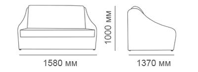 габаритные размеры дивана Бостон