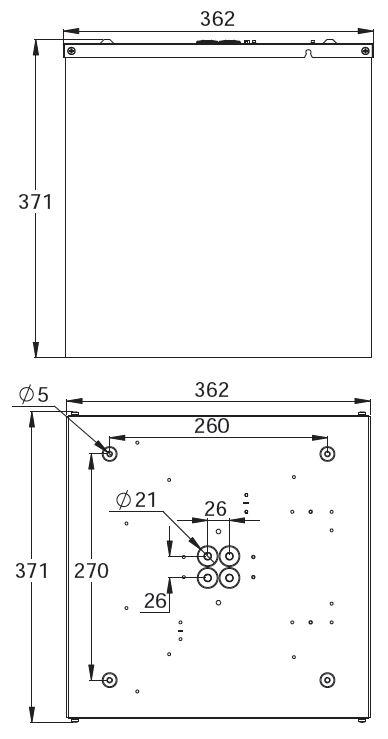 Монтажные размеры светильника аварийного освещения куб ESC-CUBE