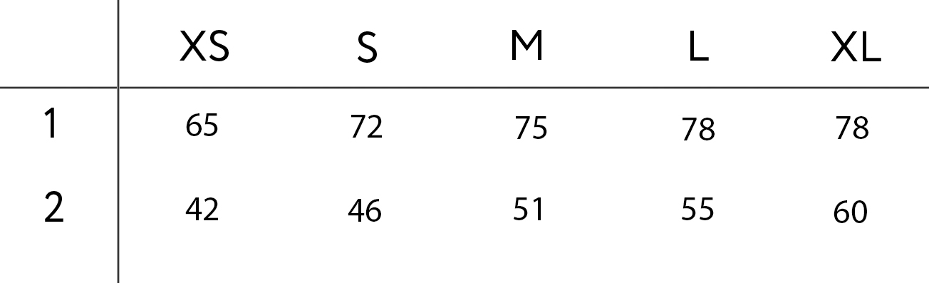 t-shirt sizes table
