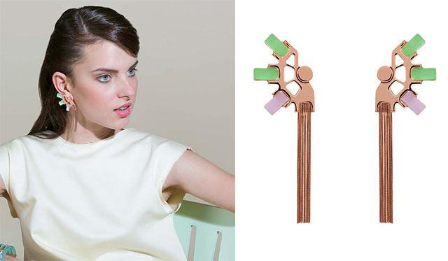 Серьги Green&Rose от Giuliana Mancinelli