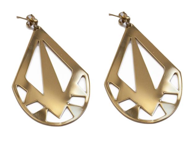 Золотые массивные серьги от Chic Alors Paris