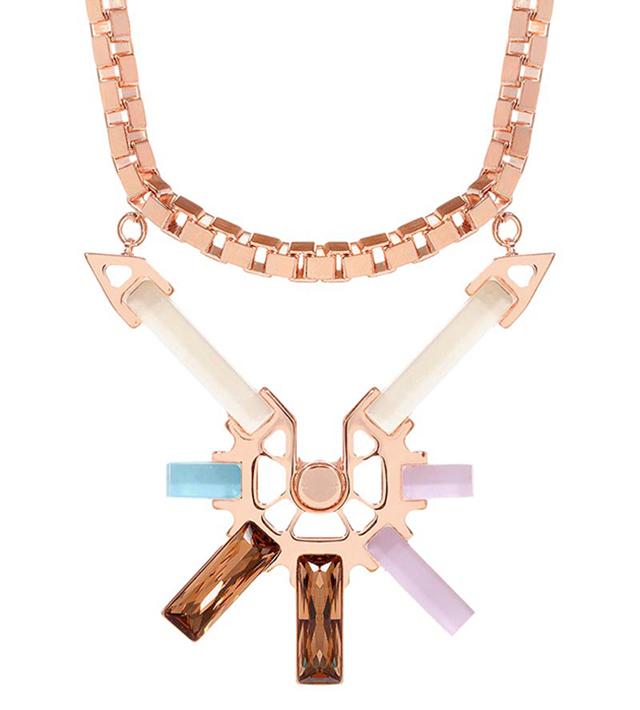 Подвеска Rose gold cubes&crystal от Giuliana Mancinelli