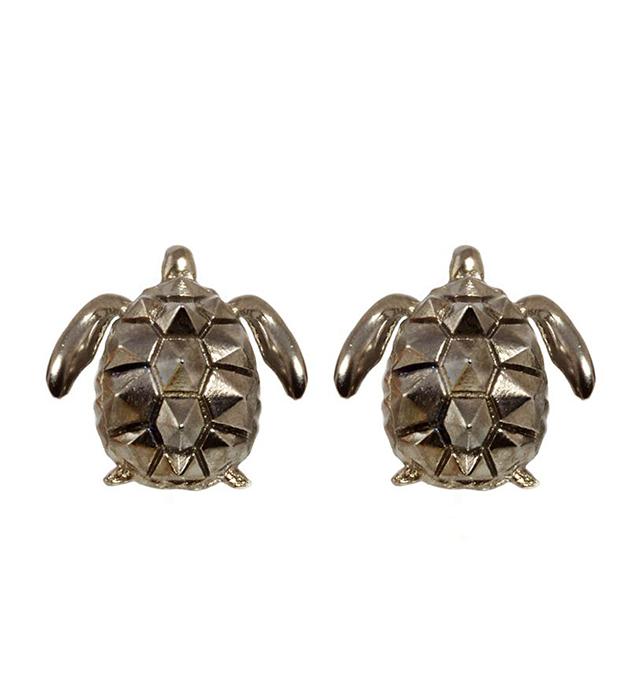 эффектные серьги в форме черепахи TURTLE BLACK EARRINGS  от Thomas.V