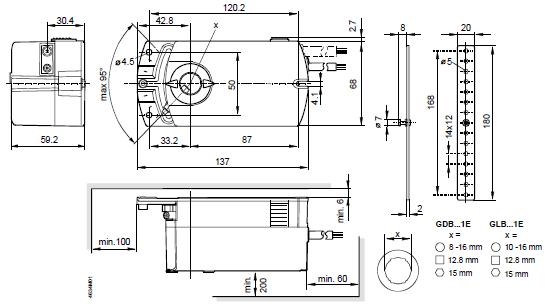 Размеры Siemens GLB161.1E