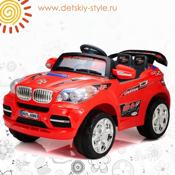 "Электромобиль Kids Cars ""BMW X6"" A061 ДЖИП"