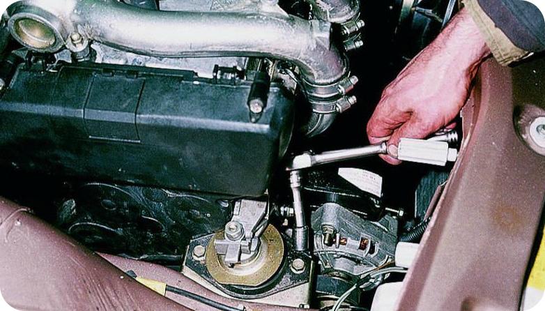 Как заменить подушки двигателя ваз