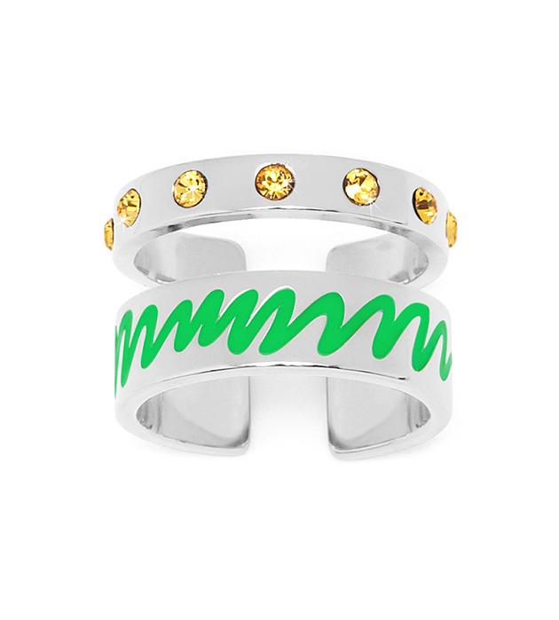 купите серебристое кольцо на фалангу ручной работы Life Double от Maria Francesca Pepe