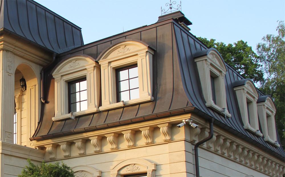 Мансардное окно из артбетона