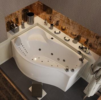 Ванны асимметричная 1Marka с гидромассажем