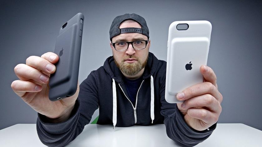 Оригинальныйчехолсо встроеннымаккумулятором Apple Smart Battery Case для iPhone 7.