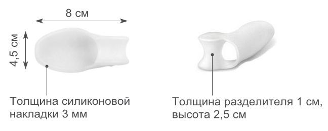 Фиксаторы для коррекции большого пальца ноги 1 пара - руб