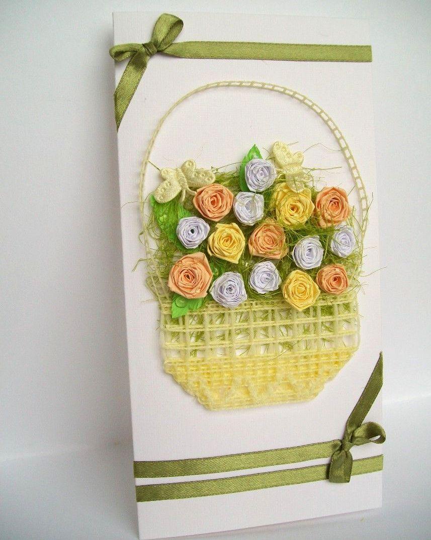 Картинки открытки, цветы в корзине своими руками открытка
