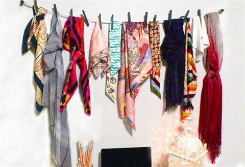 как развесить платки